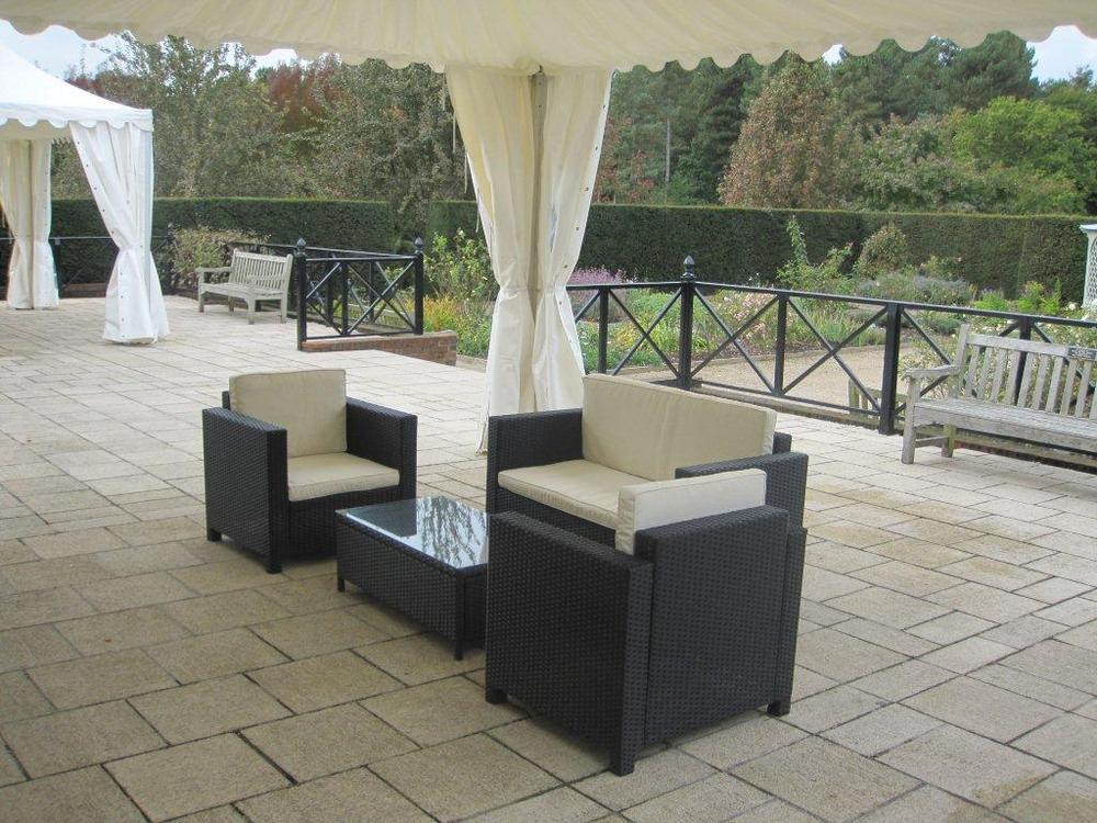 4 Piece Rattan Patio Set